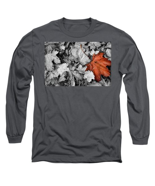 Brown Maple Leaf Long Sleeve T-Shirt