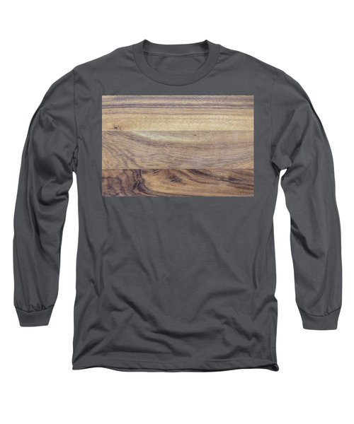 Brown Rubber Wooden Tray Handmade In Asia Long Sleeve T-Shirt