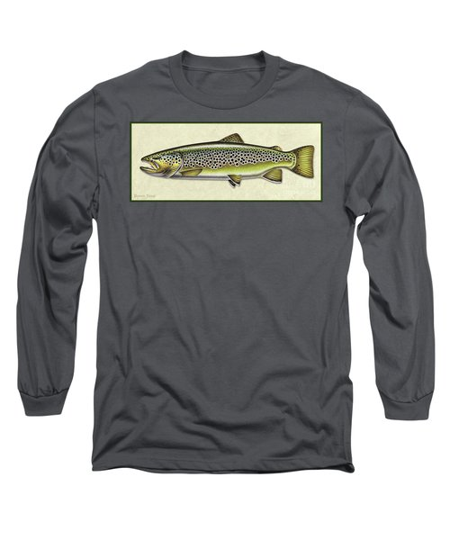 Brown Trout Id Long Sleeve T-Shirt