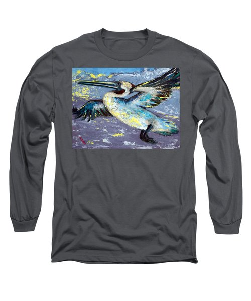 Long Sleeve T-Shirt featuring the painting Brownie Into The Sunset by Suzanne McKee