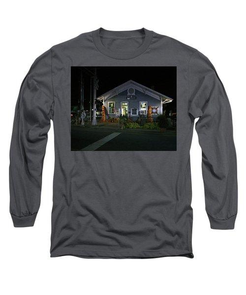 Bryson City Train Station Long Sleeve T-Shirt by Lamarre Labadie