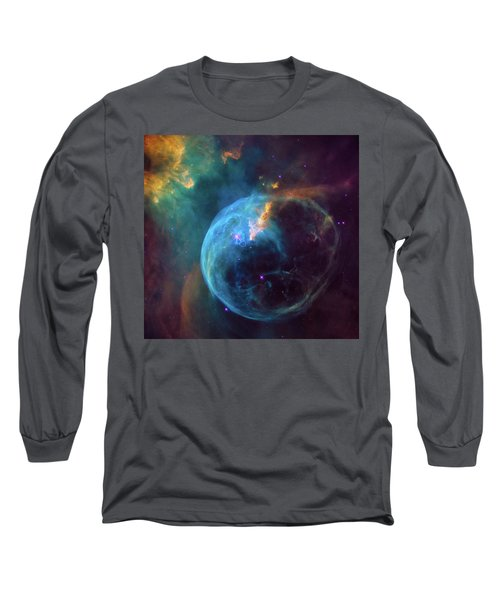Long Sleeve T-Shirt featuring the photograph Bubble Nebula by Marco Oliveira