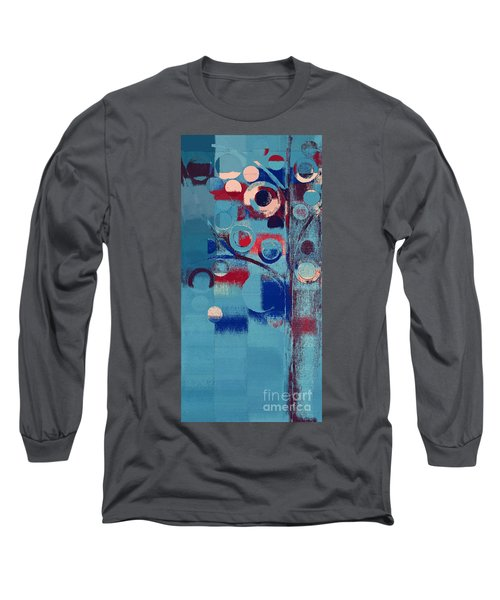 Long Sleeve T-Shirt featuring the painting Bubble Tree - 85e-j4 by Variance Collections