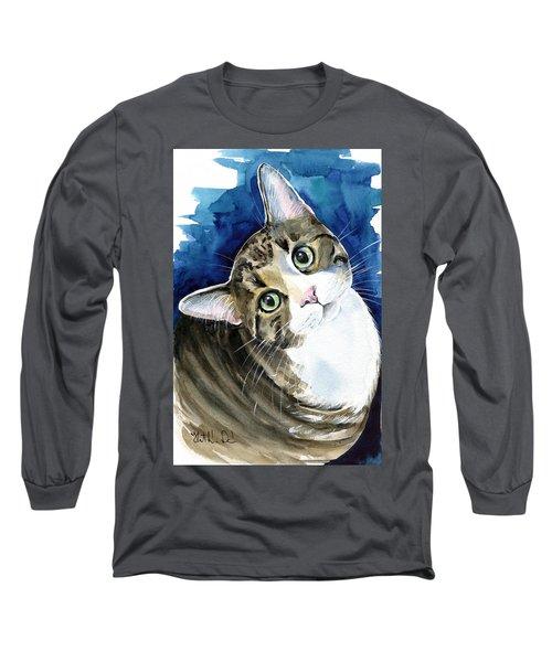 Bubbles - Tabby Cat Painting Long Sleeve T-Shirt