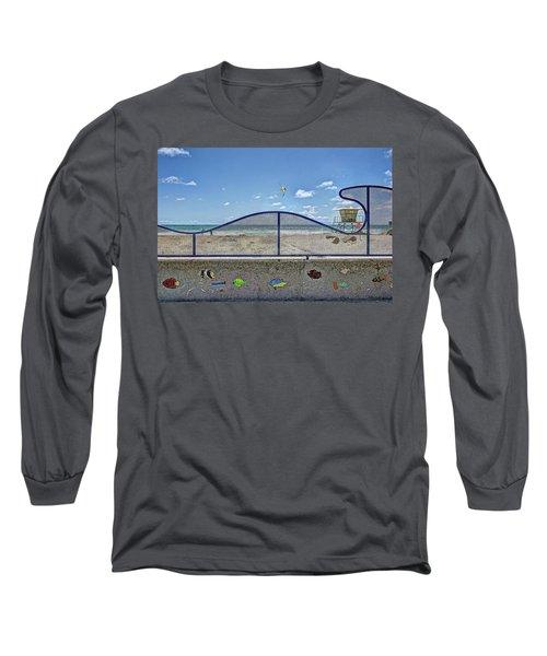 Buccaneer Beach Long Sleeve T-Shirt by Ann Patterson