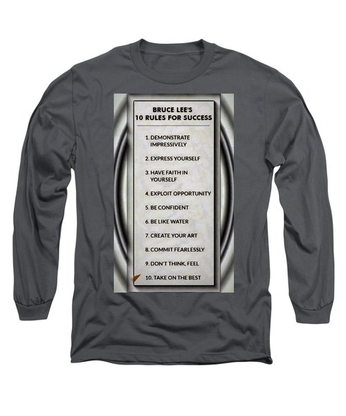 Buce Lee 10 Rules Of Success Long Sleeve T-Shirt