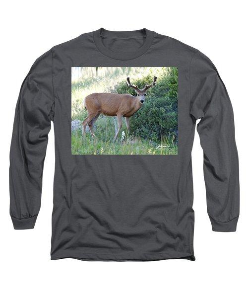 Buck In Velvet Long Sleeve T-Shirt