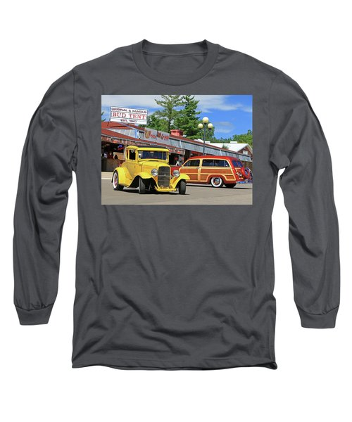 Long Sleeve T-Shirt featuring the photograph Bud Tent Hot Rods by Christopher McKenzie
