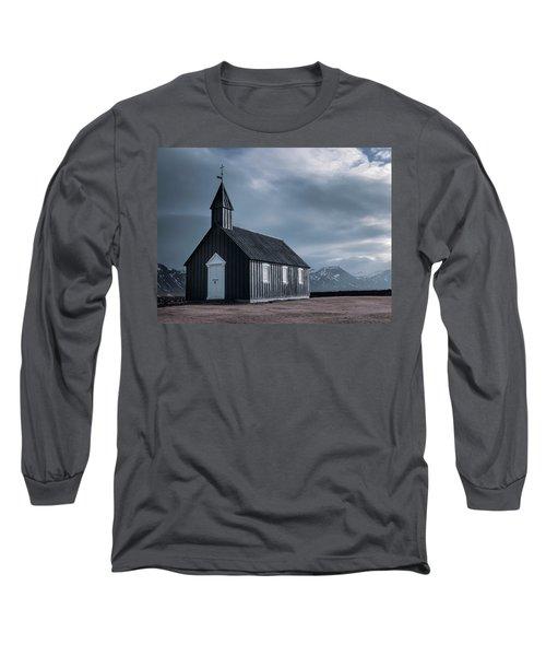 Budakirkja, The Black Church Long Sleeve T-Shirt