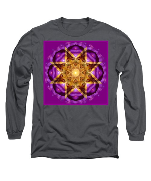 Long Sleeve T-Shirt featuring the painting Buddha Mandala by Sue Halstenberg