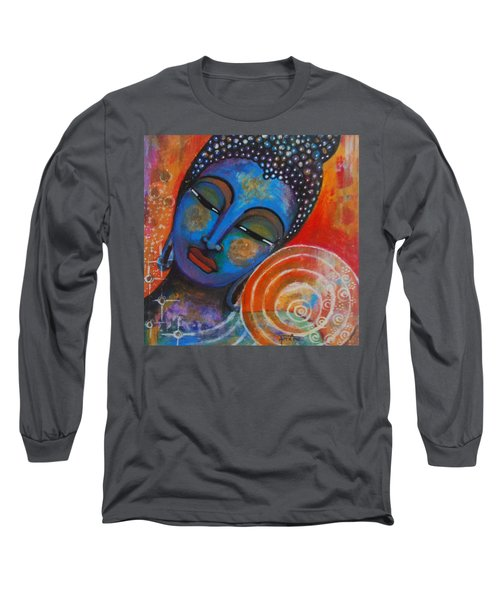 Long Sleeve T-Shirt featuring the painting Buddha by Prerna Poojara