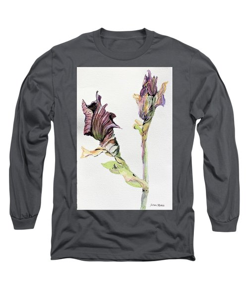 Budding Irises Long Sleeve T-Shirt