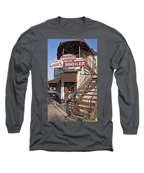 Bud's Broiler New Orleans Long Sleeve T-Shirt by Kathleen K Parker