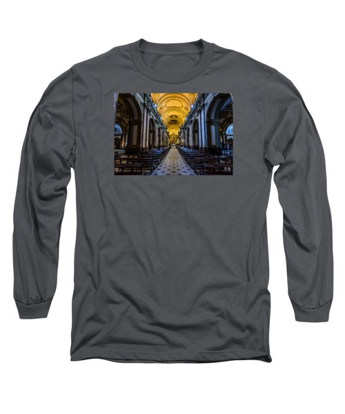 Buenos Aires Metropolitan Cathedral Long Sleeve T-Shirt by Randy Scherkenbach