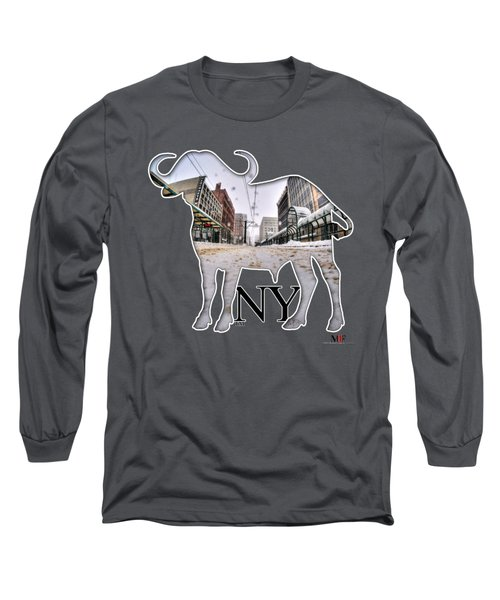 Buffalo Ny Snowy Main St Long Sleeve T-Shirt
