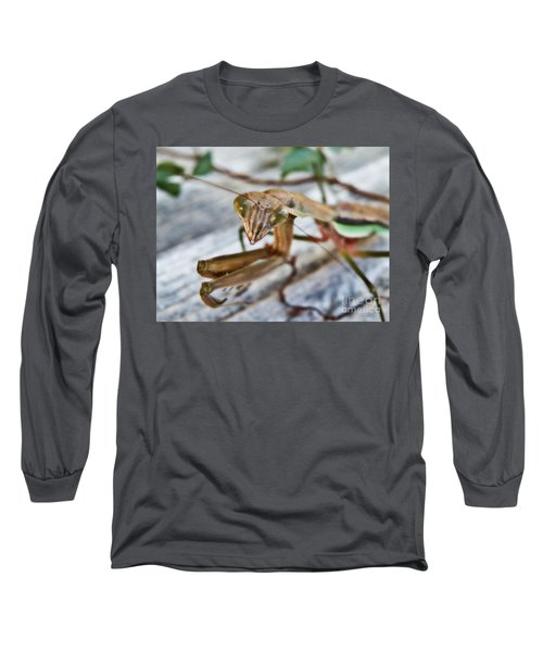 Bug Eyed  Long Sleeve T-Shirt by Christy Ricafrente