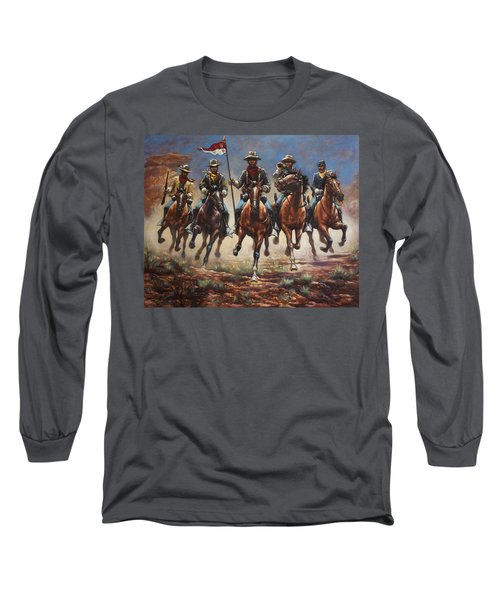 Bugler And The Guidon Long Sleeve T-Shirt