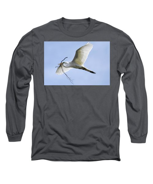 Building A Home Long Sleeve T-Shirt by Gary Wightman