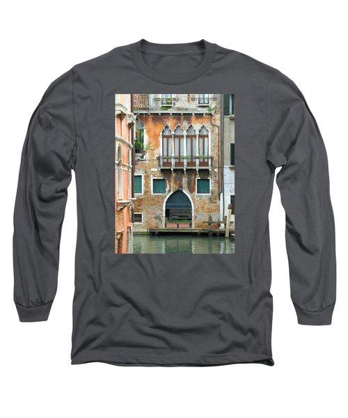 Buildings Of Venice Long Sleeve T-Shirt by Lisa Boyd