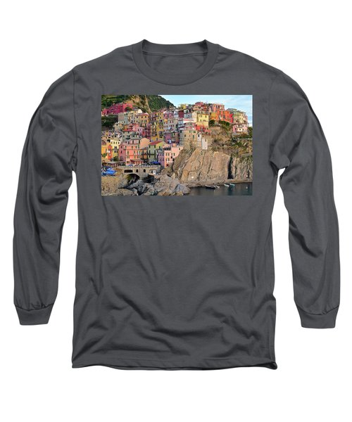 Long Sleeve T-Shirt featuring the photograph Built On The Slope by Frozen in Time Fine Art Photography