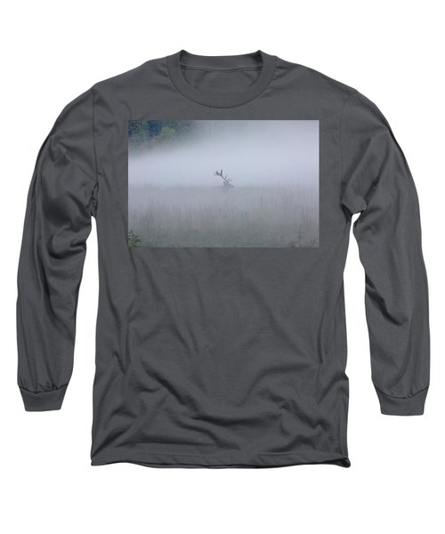 Bull Elk In Fog - September 30, 2016 Long Sleeve T-Shirt