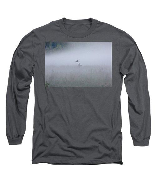 Bull Elk In Fog - September 30, 2016 Long Sleeve T-Shirt