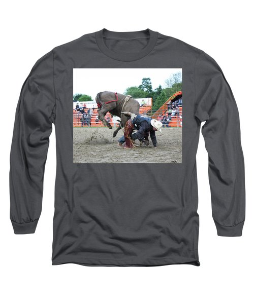 Bull Riding Action Long Sleeve T-Shirt