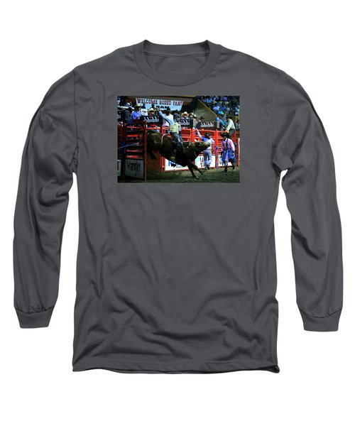 Bull Riding At The Grand National Rodeo Long Sleeve T-Shirt