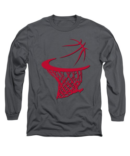 Bulls Basketball Hoop Long Sleeve T-Shirt