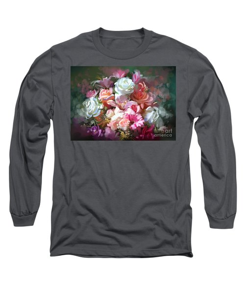 Bunch Of Roses Long Sleeve T-Shirt