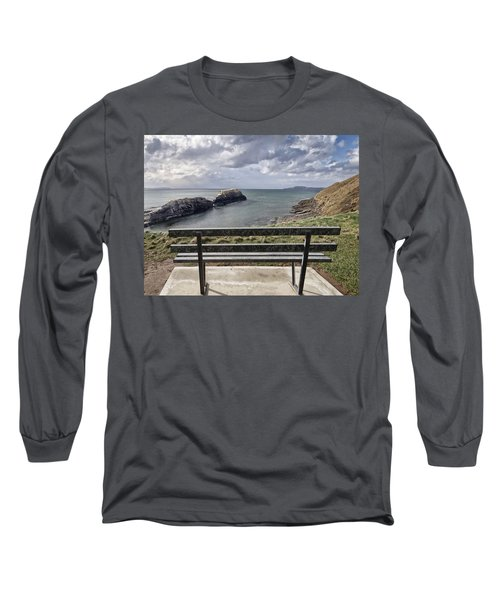 Bundoran - View Over The Diving Platform At Rougey Rocks Long Sleeve T-Shirt