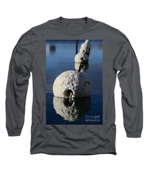 Long Sleeve T-Shirt featuring the photograph Buoy In Detail by Stephen Mitchell