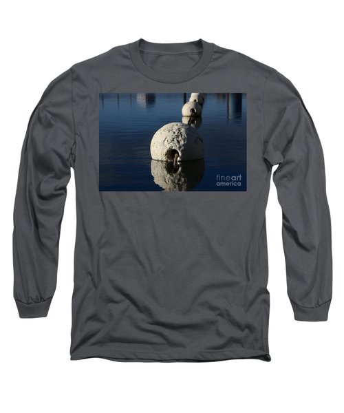 Long Sleeve T-Shirt featuring the photograph Buoy Upfront by Stephen Mitchell