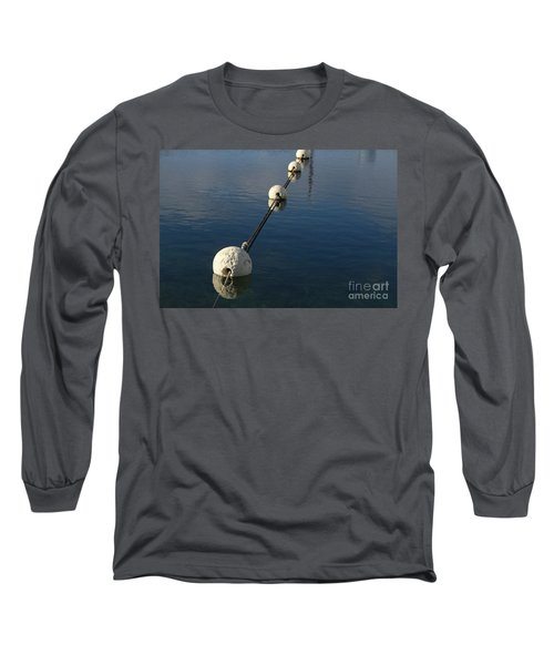 Long Sleeve T-Shirt featuring the photograph Buoys In Aligtnment by Stephen Mitchell