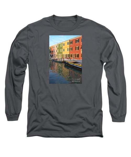 Burano Italy 1 Long Sleeve T-Shirt by Rebecca Margraf