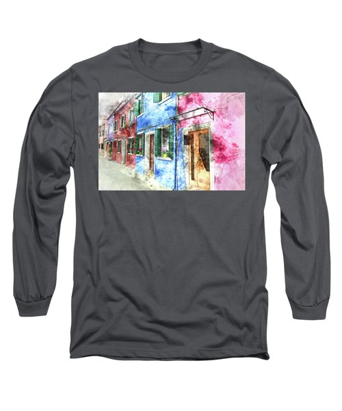 Burano Italy Buildings Long Sleeve T-Shirt