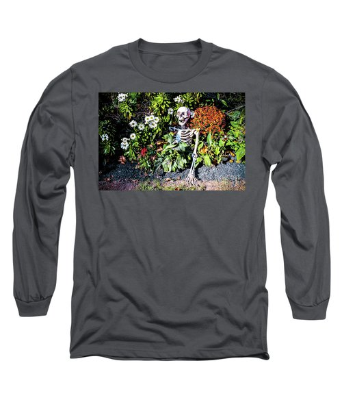 Long Sleeve T-Shirt featuring the photograph Buried Alive - Skeleton Garden by Colleen Kammerer