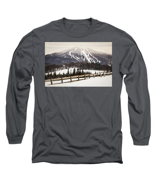 Burke Mountain And Fence Long Sleeve T-Shirt