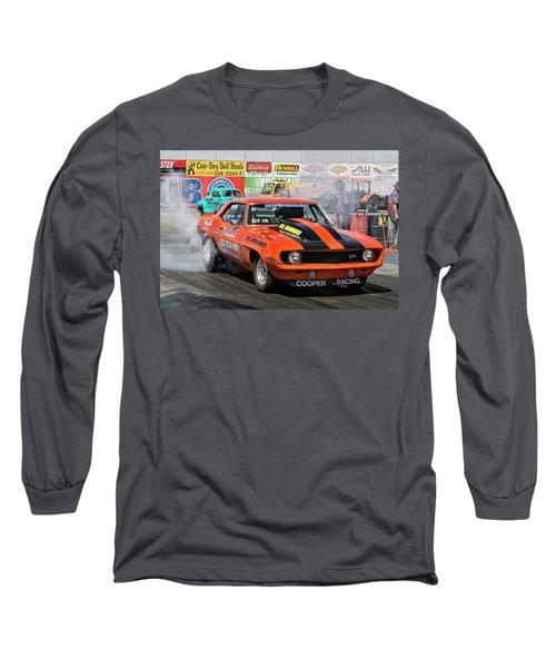 Burn Out Cooper Racing Long Sleeve T-Shirt by John Swartz