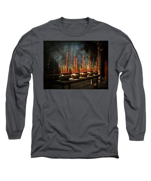 Burning Incense Long Sleeve T-Shirt