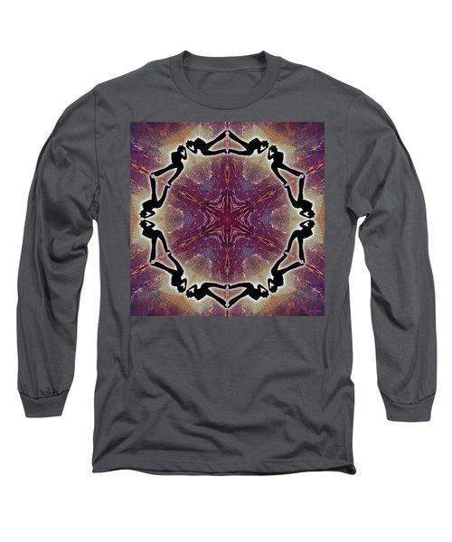 Long Sleeve T-Shirt featuring the digital art Burning Movement by Derek Gedney