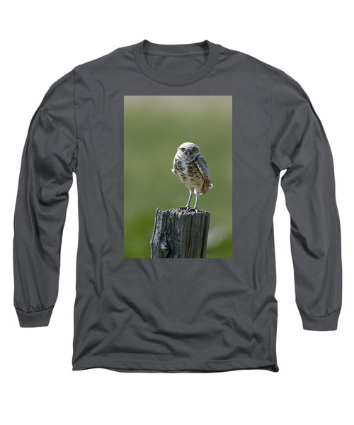 Long Sleeve T-Shirt featuring the photograph Burrowing Owl by Gary Lengyel