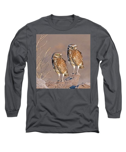 Burrowing Owls At Salton Sea Long Sleeve T-Shirt