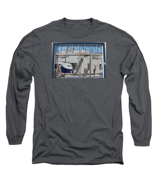 Vintage Bus Depot Sign Long Sleeve T-Shirt by Suzanne Lorenz