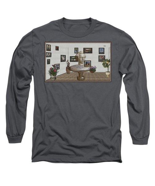 Bust Of The Spirit Of Einstein 1 Long Sleeve T-Shirt