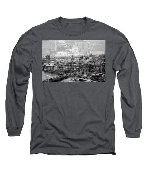 Busy London Long Sleeve T-Shirt by Karen McKenzie McAdoo