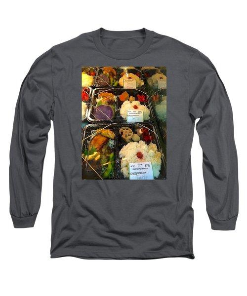 Long Sleeve T-Shirt featuring the photograph Butterfish Bento Box by Brenda Pressnall