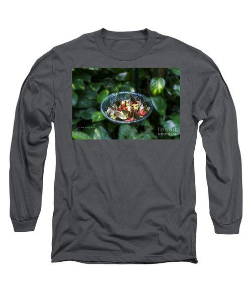 Butterflies Feeding Long Sleeve T-Shirt