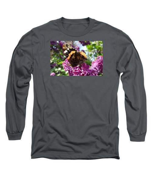 Butterfly 7 Long Sleeve T-Shirt by Jean Bernard Roussilhe
