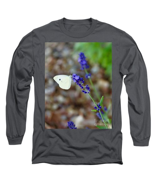 Butterfly And Lavender Long Sleeve T-Shirt